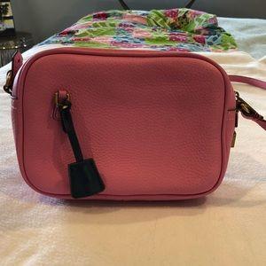 Like New J. Crew Pink Leather Signet Bag